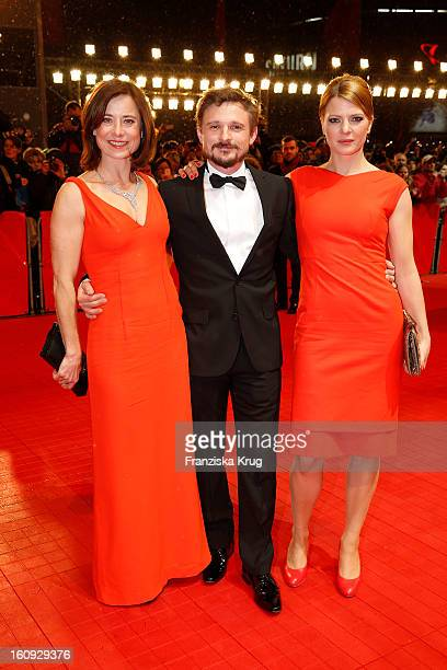 Joerdis Triebel, Florian Lukas and Inka Friedrich arrive at the 'The Grandmaster' Premiere - BMW at the 63rd Berlinale International Film Festival at...