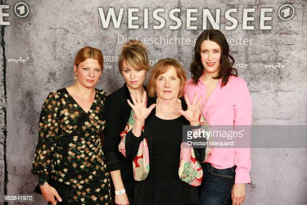 Joerdis Triebel Lisa Wagner Ruth Reinecke and Claudia Mehnert main actresses of the TV series attend the premiere of the 4th season of the German TV...