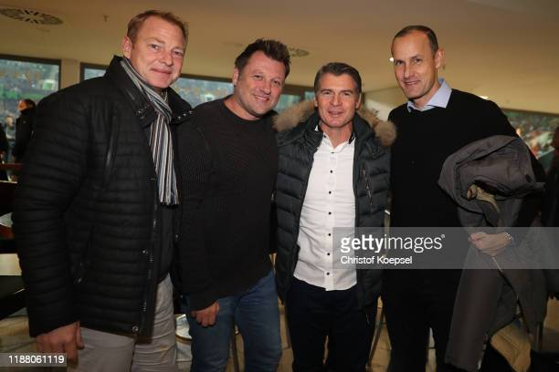Joerg Albertz Stephan Passlack Karlheinz Pflipsen and Heiko Herrlich attend the Club Of Former National Players Meeting at Borussia Park Stadium on...