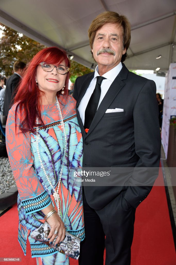 Joerg Drager and his wife Petra Draeger attend the 'Goldene