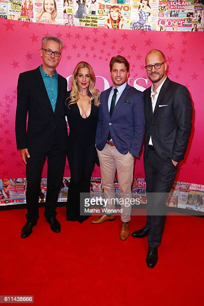 Joerg Hausendorf Charlotte Wuerdig Raul Richter and Tim Affeld attend the InTouch Awards 'Icons Idols' at Nachtresidenz on September 29 2016 in...