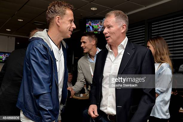 Joerg Heinrich Sebastian Kehl and Stefan Reuter attend the 'Club Of Former National Players' meeting prior to the EURO 2016 qualifier match between...