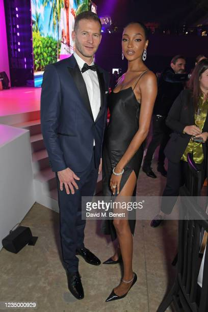 Joerg Horcher, Managing Director of Hugo Boss, Northern Hub, and Jourdan Dunn attend the 24th GQ Men of the Year Awards in association with BOSS at...