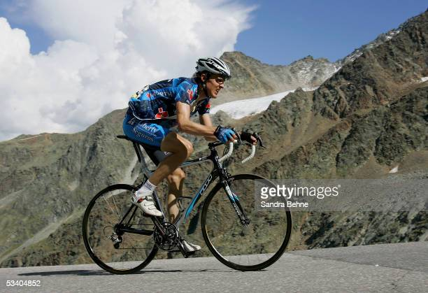 Joerg Jaksche of Germany and Team Liberty Seguros during the third stage of the Deutschland Tour on August 18, 2005 from Kufstein to Soelden, Austria.
