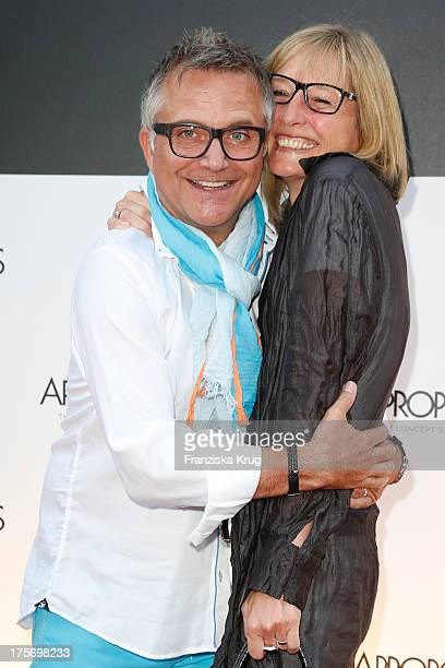 Joerg Knoer and Kerstin Goeritz the Concept Store Apropos Official Opening on August 06 2013 in Hamburg Germany