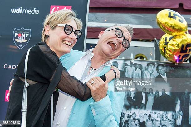 Joerg Knoer with his wife Kerstin Goeritz during the anniversary event '55 Jahre Pony Club Kampen' presented by Gala magazine on August 5 2016 in...