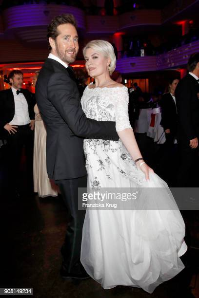 Joerg Oppermann and Kriemhild Maria Siegel during the German Film Ball 2018 at Hotel Bayerischer Hof on January 20 2018 in Munich Germany