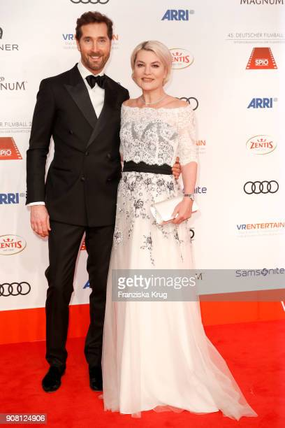 Joerg Oppermann and Kriemhild Siegel attend the German Film Ball 2018 at Hotel Bayerischer Hof on January 20 2018 in Munich Germany