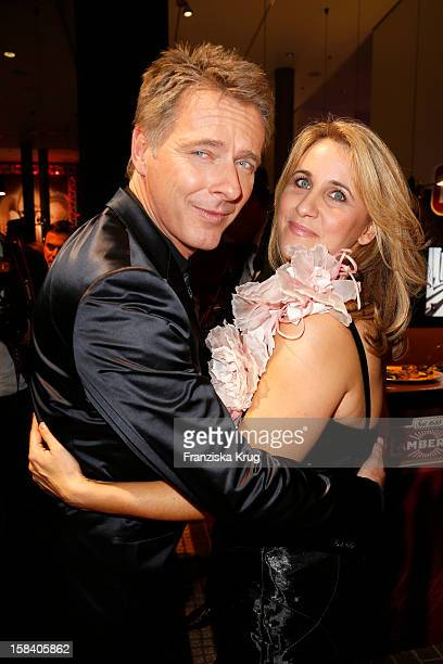 Joerg Pilawa and his wife Irina Opaschowski attend the 'Ein Herz Fuer Kinder Gala 2012' on December 15 2012 in Berlin Germany