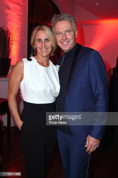 Joerg Pilawa and his wife Irina Pilawa attend the 'Helden des Alltags' Gala at Theater Kehrwieder on October 1 2019 in Hamburg Germany