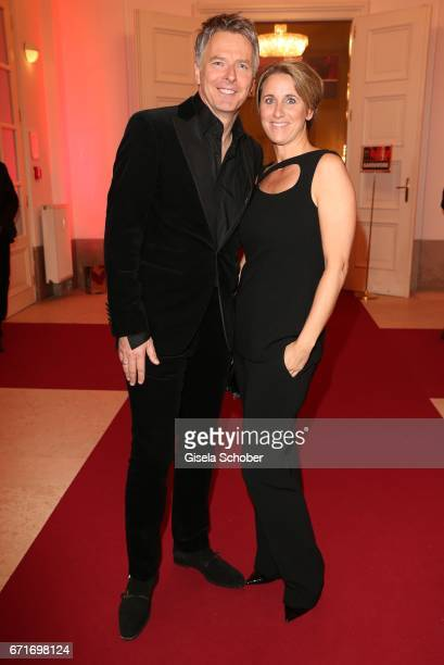 Joerg Pilawa and his wife Irina Pilawa during the ROMY award at Hofburg Vienna on April 22 2017 in Vienna Austria