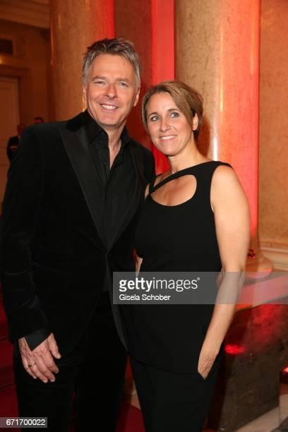 Joerg Pilawa and his wife Irina Pilawa during the ROMY award at Hofburg Vienna on April 22 2017 in Vienna Austria
