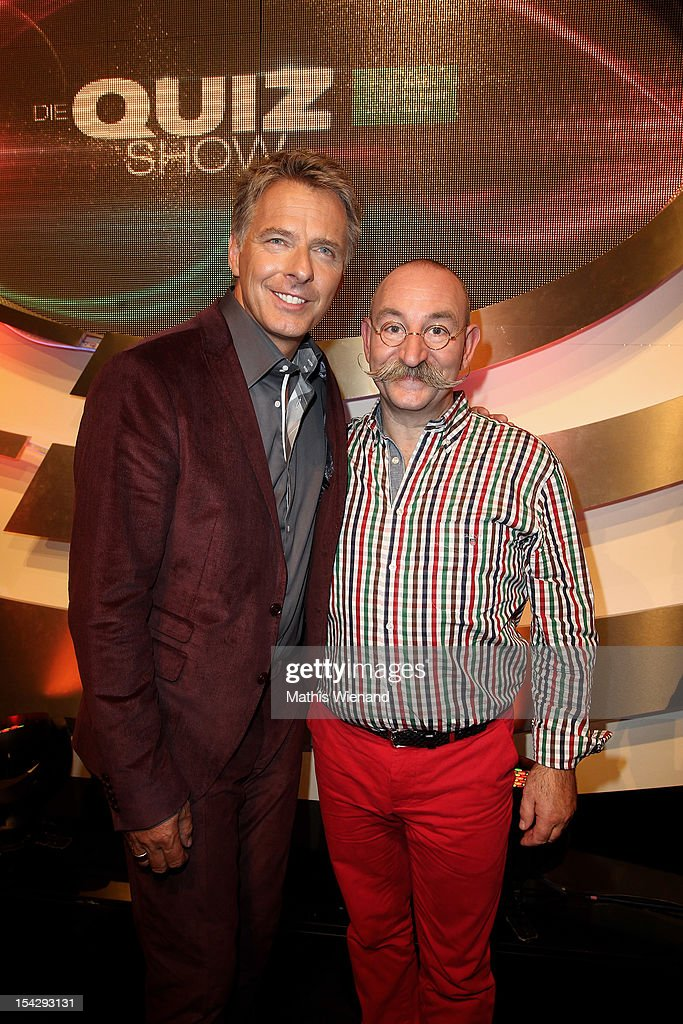 Joerg Pilawa and Horst Lichter attend 'Die Quizshow' with Joerg Pilawa on October 17, 2012 in Cologne, Germany. The money goes to the 'Welthungerhilfe'!