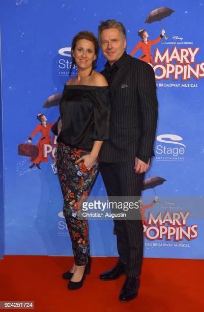 Joerg Pilawa and Irina Pilawa attend Mary Poppins Musical Premiere at Stage Theater an der Elbe on February 25 2018 in Hamburg Germany