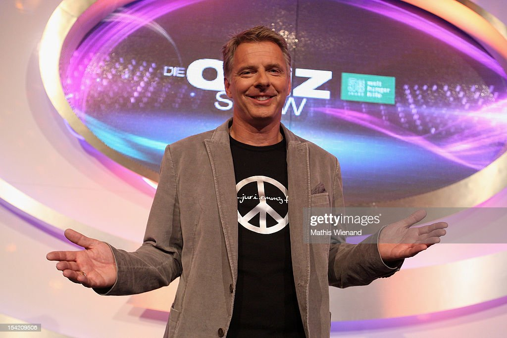 Joerg Pilawa attends the photocall to 'Die Quizshow' on October 16, 2012 in Cologne, Germany.