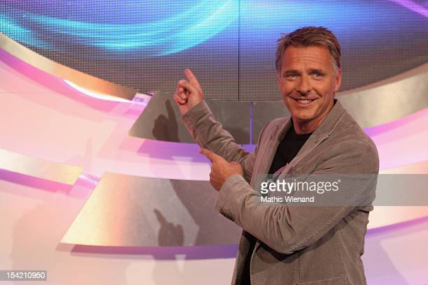 Joerg Pilawa attends the photocall to 'Die Quizshow' on October 16 2012 in Cologne Germany