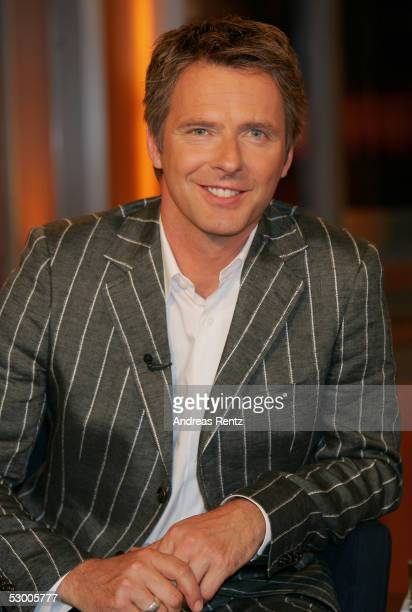 Joerg Pilawa journalist and ARD Television Moderator attend the Johannes B Kerner Show on June 01 2005 in Hamburg Germany