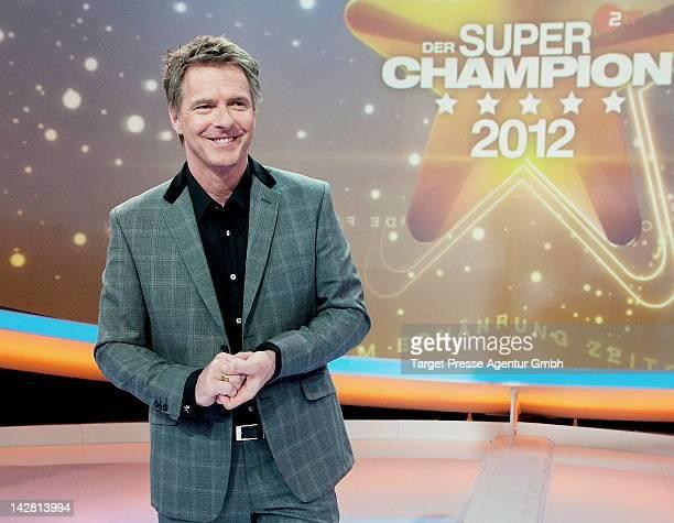 Joerg Pilawa presents the 'SuperChampion' show at Filmstudios BerlinAdlershof on April 12 2012 in Berlin Germany