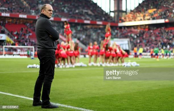 Joerg Schmadtke of Koeln is seen during the Bundesliga match between 1 FC Koeln and Werder Bremen at RheinEnergieStadion on May 5 2017 in Cologne...