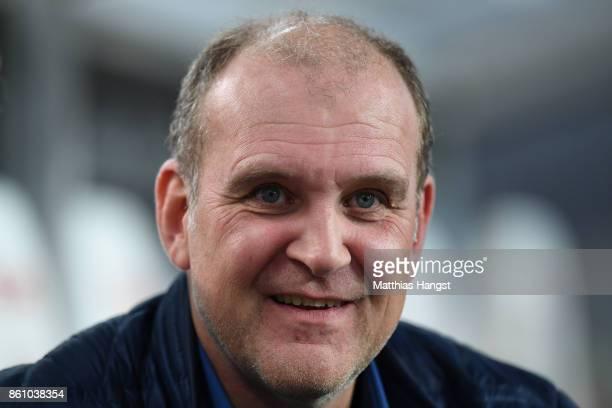Joerg Schmadtke sport director of 1 FC Koeln before the Bundesliga match between VfB Stuttgart and 1 FC Koeln at MercedesBenz Arena on October 13...