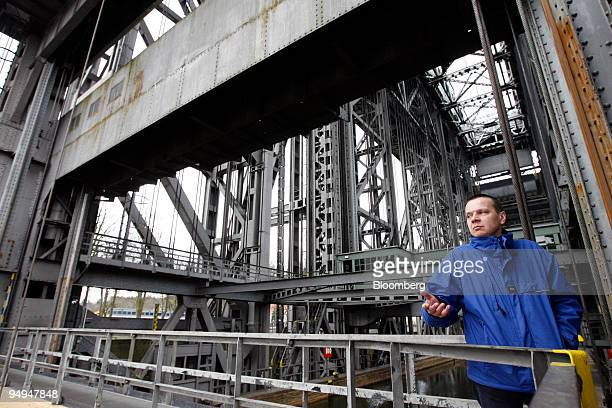 Joerg Schumacher head operator of the 75yearold ship lift that still carries ships over the 36 meter vertical difference between the Oder River and...