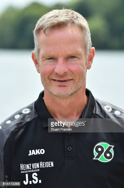 Joerg Sievers goal keeping coach of Hannover 96 poses during the team presentation at on July 14 2017 in Hanover Germany