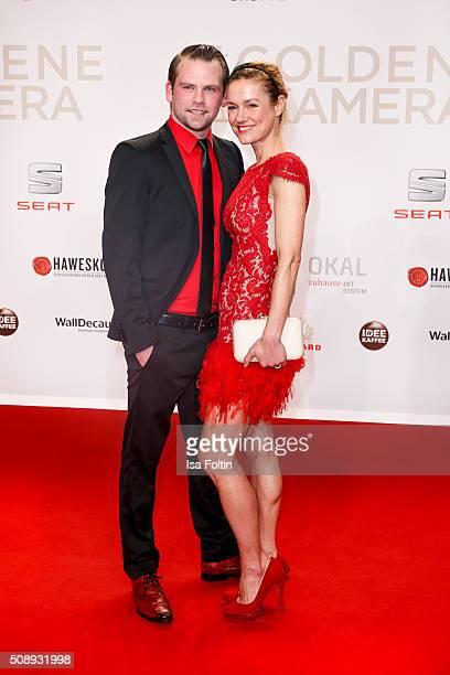 Joerg Vennewald and Rhea Harder attend the Goldene Kamera 2016 on February 6 2016 in Hamburg Germany