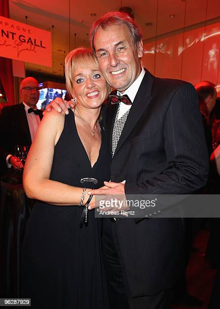 Joerg Wontorra and Heike Hinzkowski attend the after show party to the Goldene Kamera 2010 Award at the Axel Springer Verlag on January 30 2010 in...