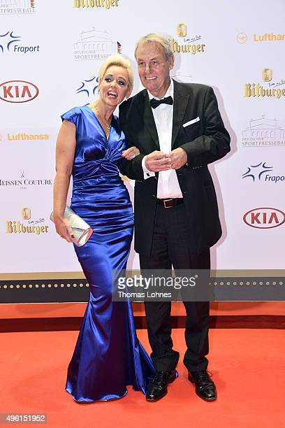 Joerg Wontorra and Heike Wontorra attend the German Sports Media Ball at Alte Oper on November 7, 2015 in Frankfurt am Main, Germany.