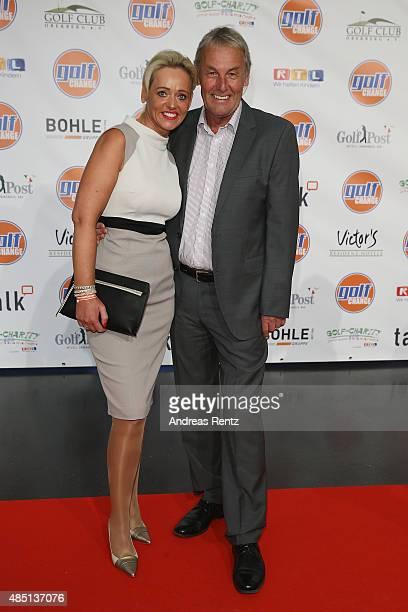 Joerg Wontorra and Heike Wontorra attend the 'RTL - Wir helfen Kindern' Golf Charity 2015 reception on August 24, 2015 in Gummersbach, Germany.