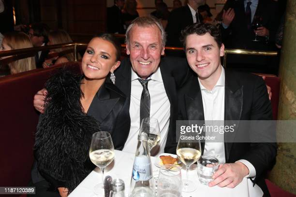 Joerg Wontorra and his daughter Laura Wontorra and his son Marcel Wontorra during the after show party for the Ein Herz Fuer Kinder Gala at Borchardt...