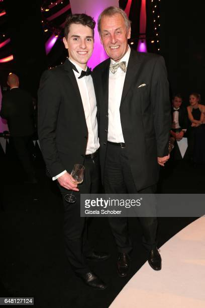 Joerg Wontorra and his son Marcel Wontorra during the Goldene Kamera after show party at Messe Hamburg on March 4 2017 in Hamburg Germany
