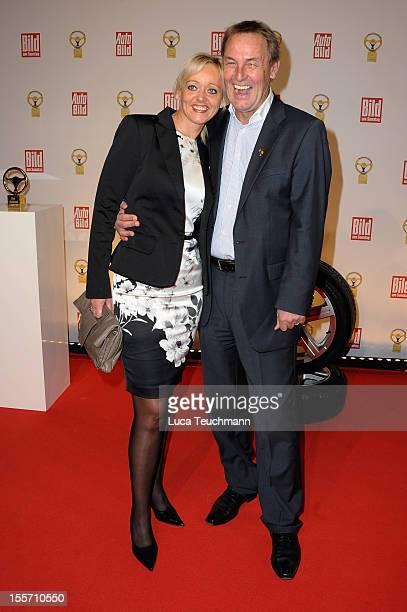 Joerg Wontorra and his wife Heike attend 'Goldenes Lenkrad' Award 2012 at Axel-Springer Haus on November 7, 2012 in Berlin, Germany.