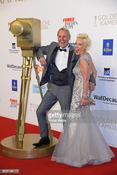 Joerg Wontorra and his wife Heike Wontorra attend the Goldene Kamera on February 22, 2018 in Hamburg, Germany.