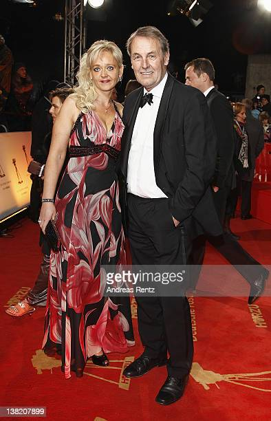 Joerg Wontorra and wife Heike attend the 47th Golden Camera Awards at the Axel Springer Haus on February 4, 2012 in Berlin, Germany.