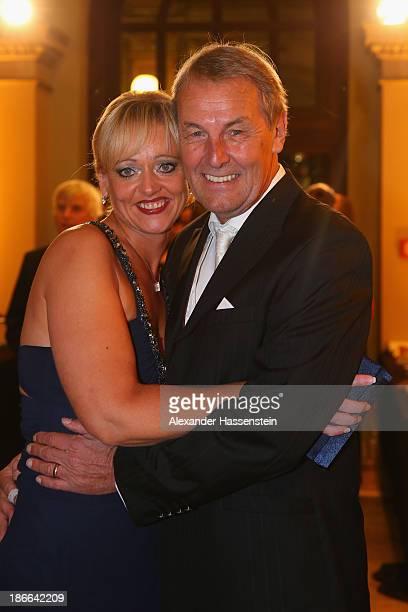 Joerg Wontorra attends with Heike Wontorra the 32. Sportpresseball at Alte Oper on November 2, 2013 in Frankfurt am Main, Germany.