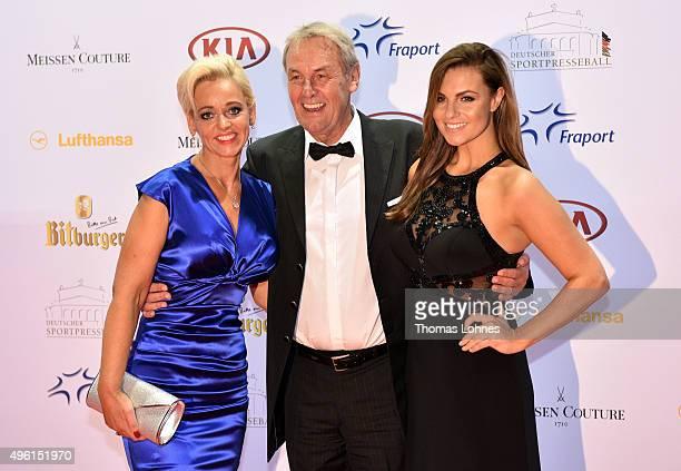 Joerg Wontorra, Heike Wontorra and Laura Wontorra attend the German Sports Media Ball at Alte Oper on November 7, 2015 in Frankfurt am Main, Germany.