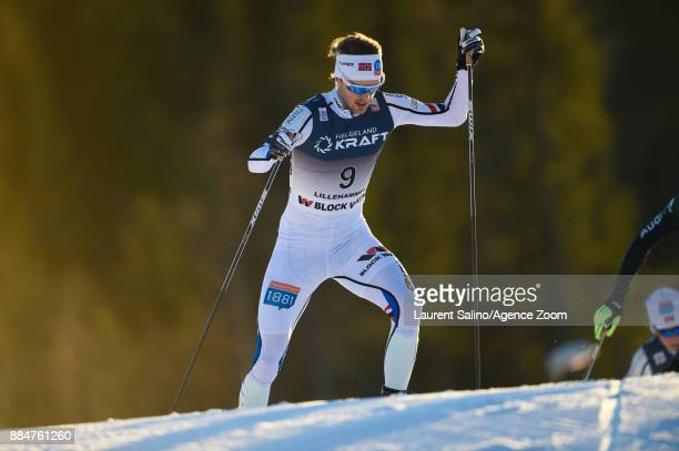 Joergen Graabak of Norway takes 3rd place during the FIS Nordic World Cup Nordic Combined HS138 / Ind Gund on December 3 2017 in Lillehammer Norway