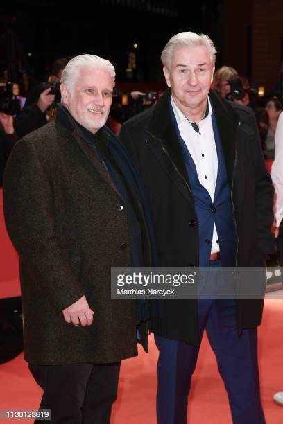 Joern Kubicki and Klaus Wowereit arrive for the closing ceremony of the 69th Berlinale International Film Festival Berlin at Berlinale Palace on...