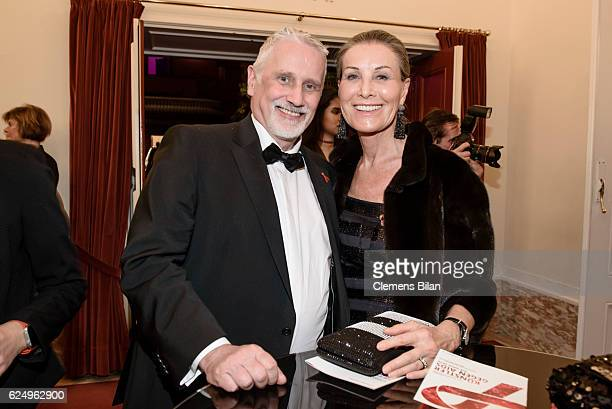Joern Kubicki and Maren Otto attend the Artists Against Aids Gala at Stage Theater des Westens on November 16, 2016 in Berlin, Germany.