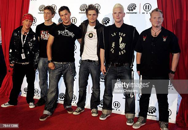 Joern Schloenvoigt and band arrives before The Dome 43 music show at the Color Line Arena on August 31 2007 in Hamburg Germany