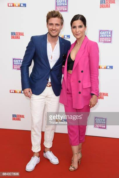 Joern Schloenvoigt and Chryssanthi Kavazi attend the 25th anniversary party of the TV show 'GZSZ' on May 17 2017 in Berlin Germany