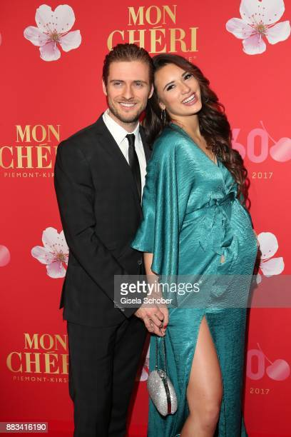 Joern Schloenvoigt and his fiance Hanna Weig during the Mon Cheri Barbara Tag at Postpalast on November 30 2017 in Munich Germany