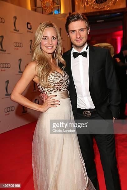 Joern Schloenvoigt and his girlfriend Syra Feiser during the Audi Generation Award 2015 at Hotel Bayerischer Hof on December 2 2015 in Munich Germany