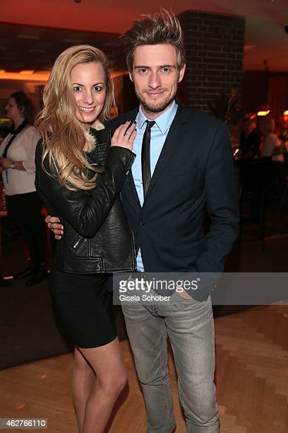 Joern Schloenvoigt and his girlfriend Syra Feiser during the birthday celebration of Maren Gilzer's 55th birthday on February 4 2015 in Berlin...