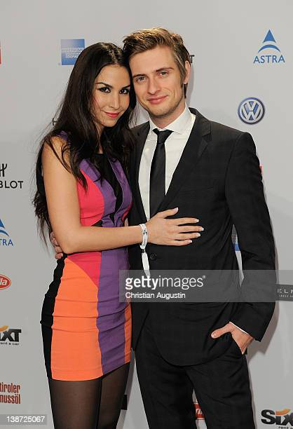 """Joern Schloenvoigt and Sila Sahin attend """"Movie meets Media"""" Party at Hotel Ritz Carlton on February 10, 2012 in Berlin, Germany."""