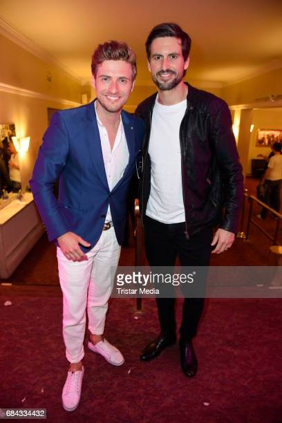 Joern Schloenvoigt and Tom Beck attend the 25th anniversary party of the TV show 'GZSZ' on May 17 2017 in Berlin Germany