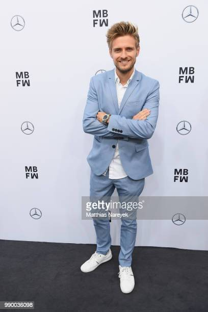 Joern Schloenvoigt attends the Guido Maria Kretschmer show during the Berlin Fashion Week Spring/Summer 2019 at ewerk on July 2, 2018 in Berlin,...