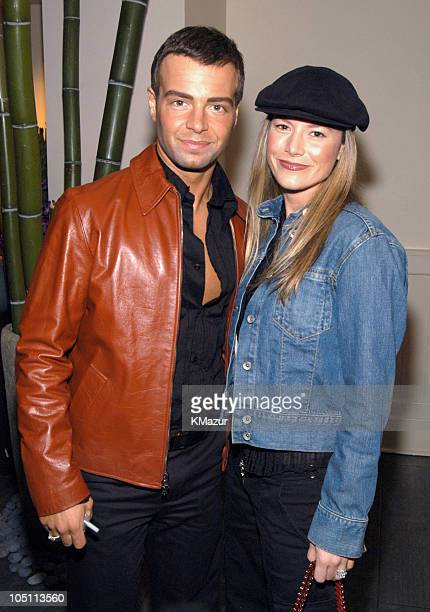 Joesph Lawrence and guest during 2003 WB UpFront After Party at Chelsea Piers in New York City New York United States