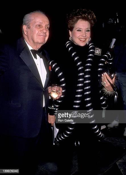 Joey Adams and Cindy Adams at the 1989 Masquerade Ball To Benefit AIDS WaldorfAstoria Hotel New York City